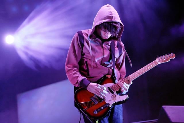 Jonny Greenwood of British rock group Ra