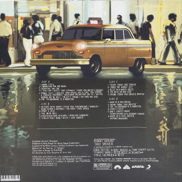 Taxi Driver Back Cover