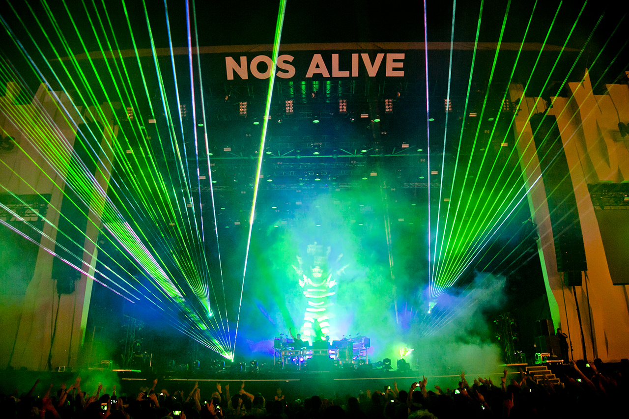The Chemical Brothers at NOS Alive, Lisboa, Portugal - 7 JULY 2016