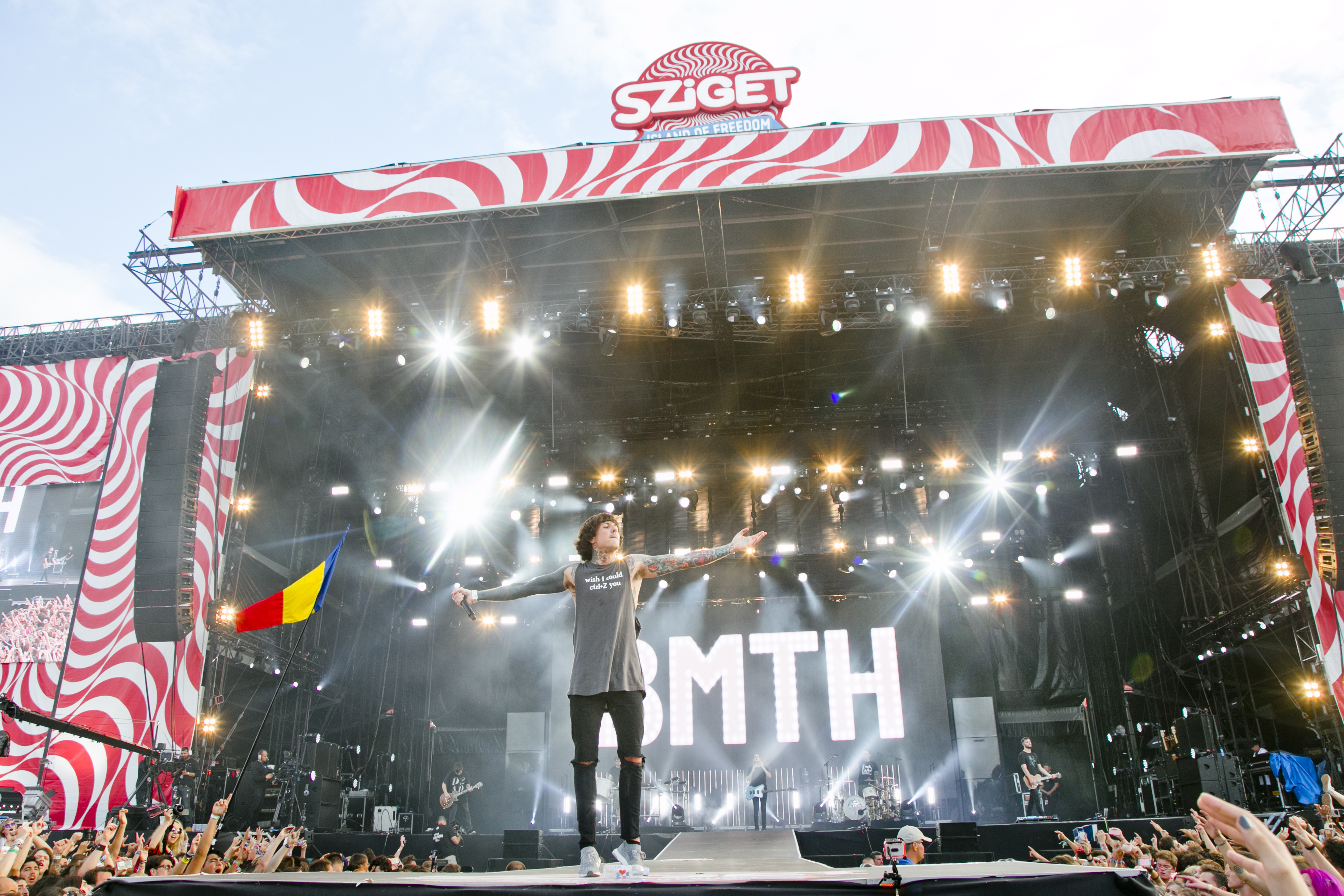 Bring Me The Horizon at Sziget Festival, Budapest, Hungary - 13 August 2016
