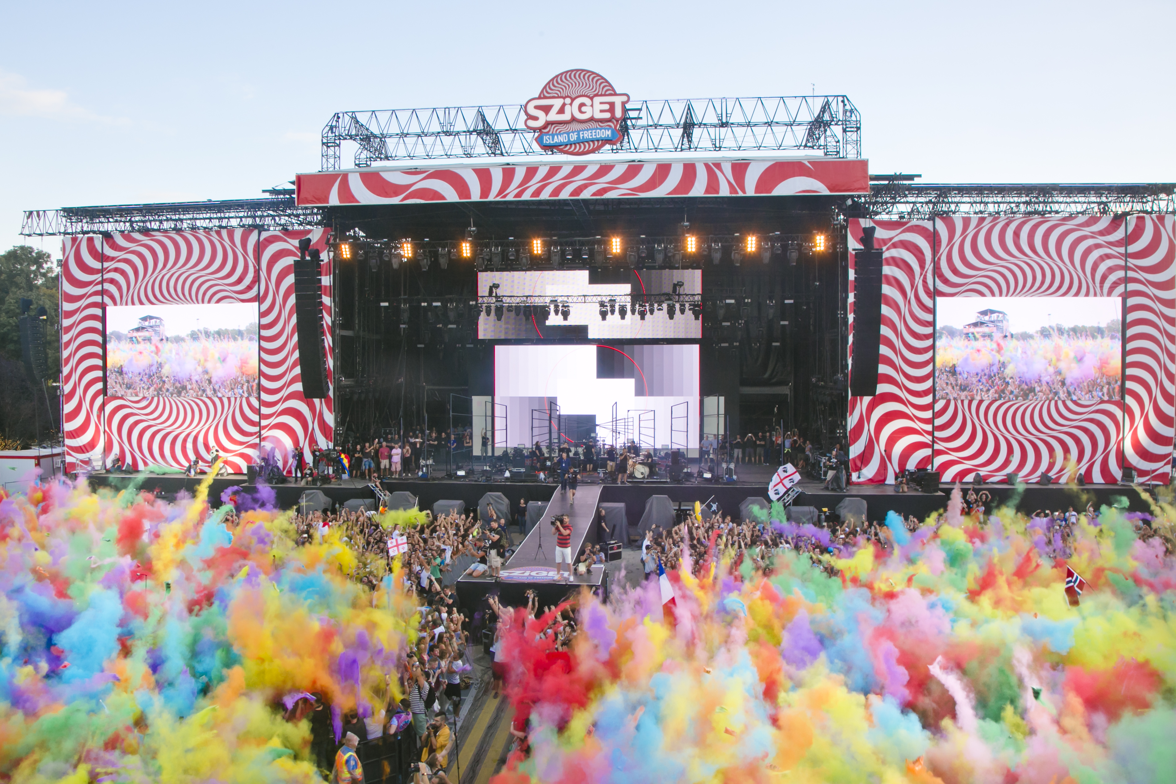 Crowd & Atmosphere at Sziget Festival, Budapest, Hungary - 13 August 2016