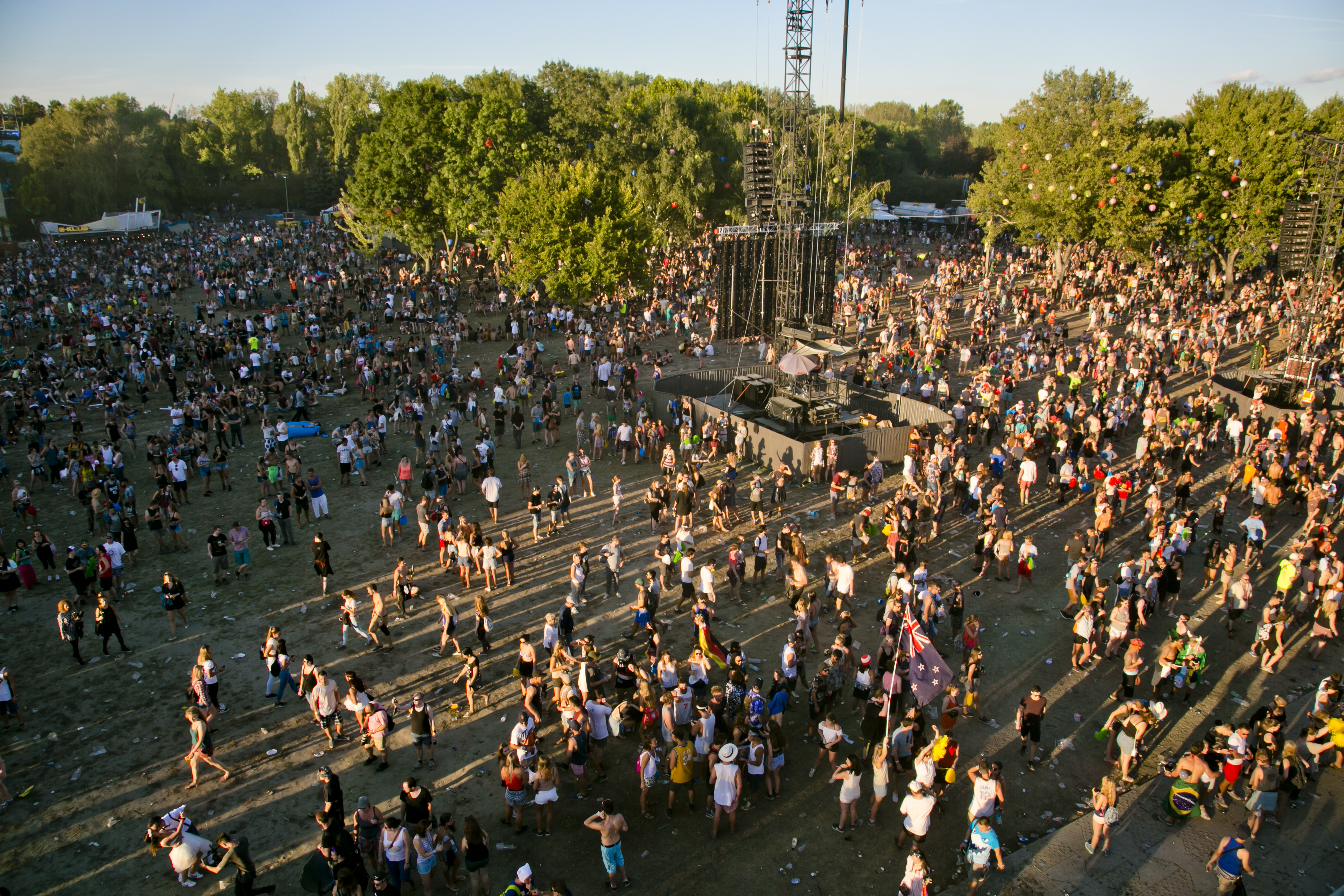 Crowd & Atmosphere at Sziget Festival, Budapest, Hungary - 14 August 2016