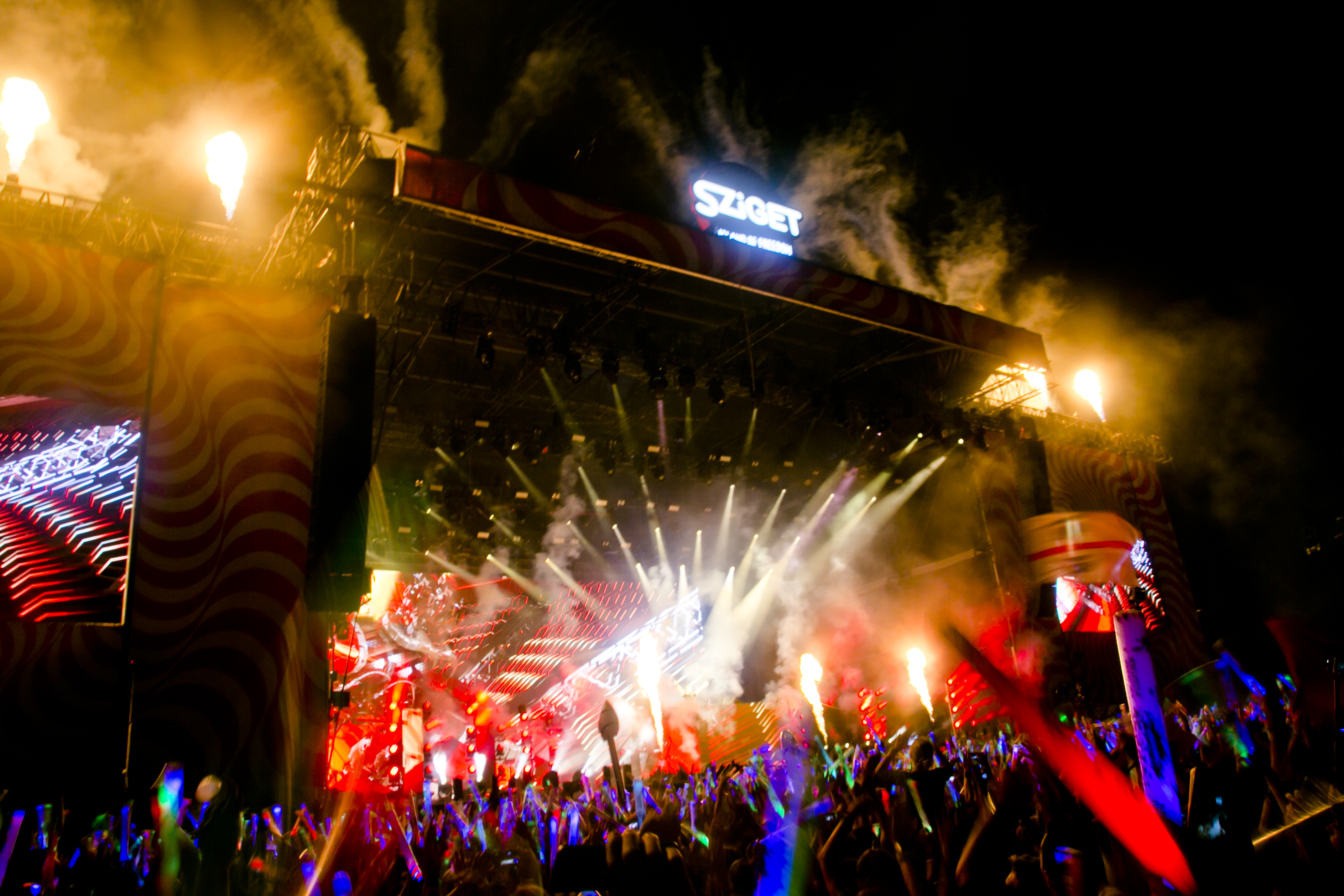 Crowd & Atmosphere at Sziget Festival, Budapest, Hungary - 16 August 2016