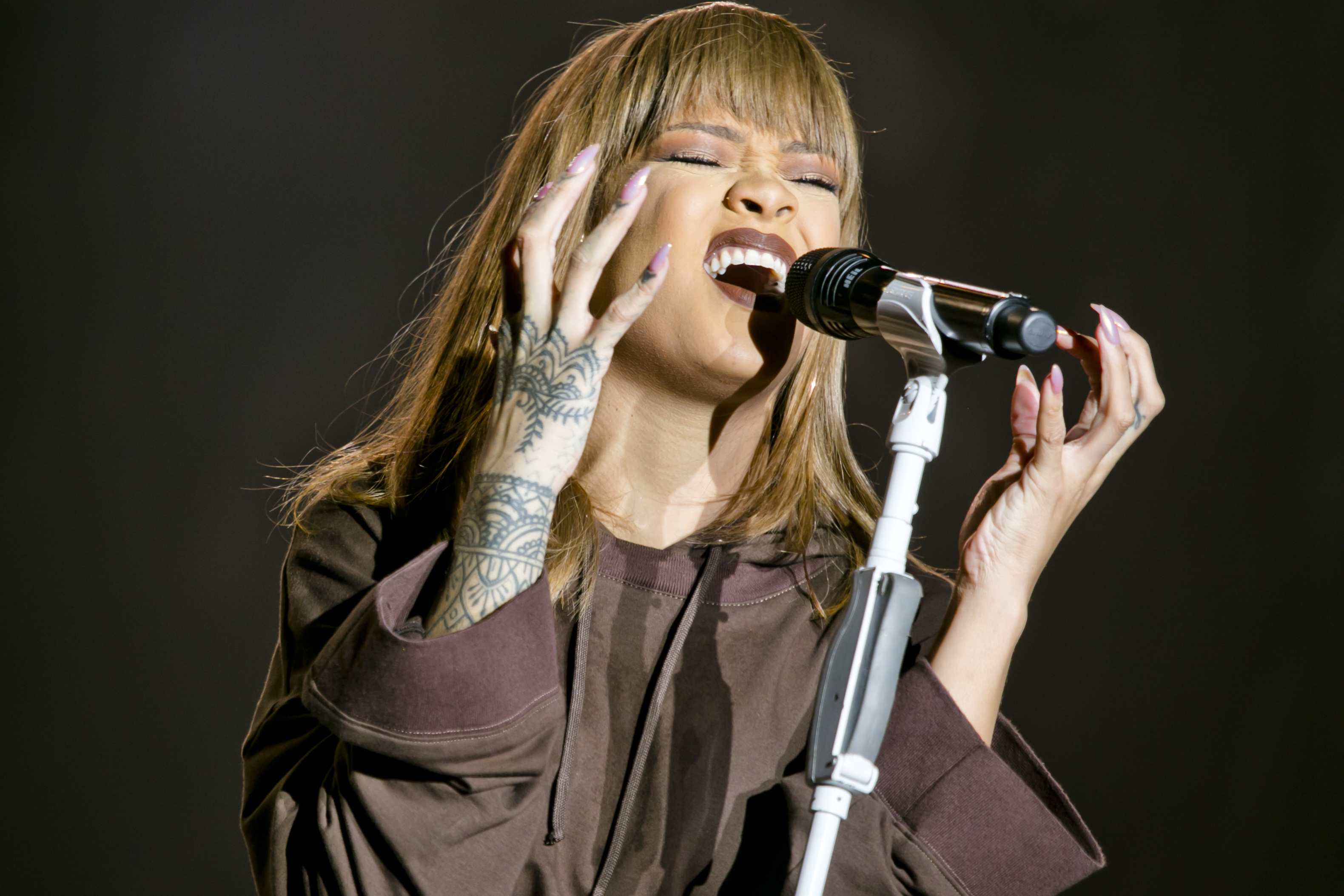 Rihanna at Sziget Festival, Budapest, Hungary - 10 August 2016