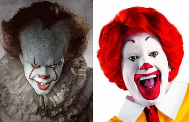 Burger King exige cancelar 'It' por parecido entre Pennywise y Ronald McDonald