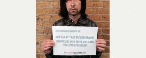 Artistas anti-fracking en Reino Unido